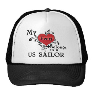 Mi corazón pertenece a un marinero de los E.E.U.U. Gorras De Camionero
