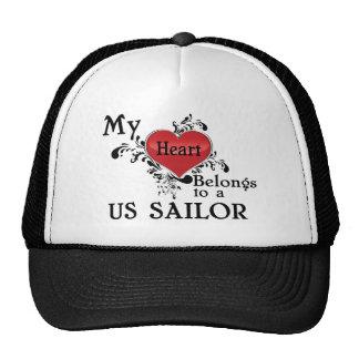 Mi corazón pertenece a un marinero de los E.E.U.U. Gorras