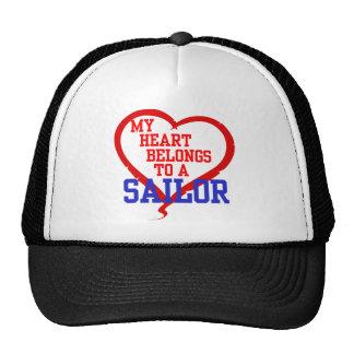 Mi corazón pertenece a un marinero gorro de camionero