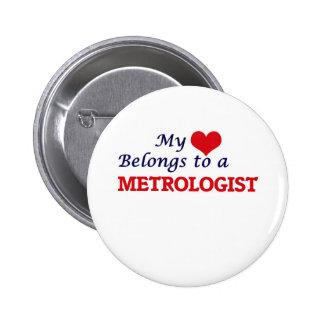 Mi corazón pertenece a un metrólogo chapa redonda de 5 cm