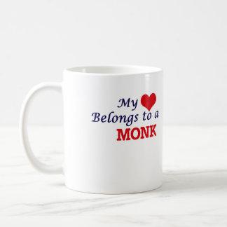 Mi corazón pertenece a un monje taza de café