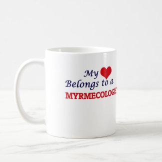 Mi corazón pertenece a un Myrmecologist Taza De Café