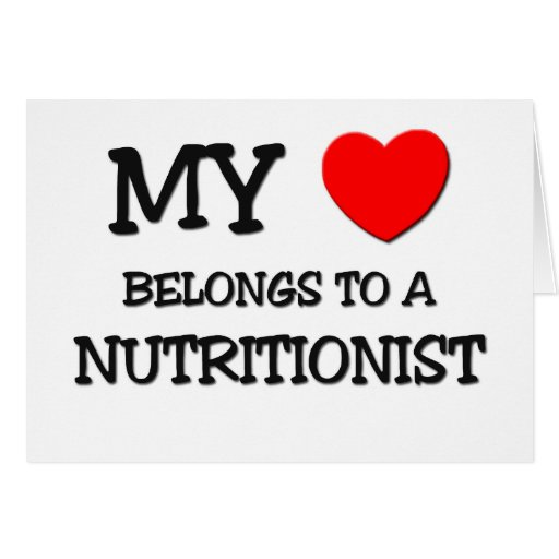 Mi corazón pertenece a un NUTRICIONISTA Tarjeton