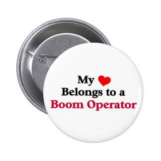 Mi corazón pertenece a un operador del auge chapa redonda de 5 cm