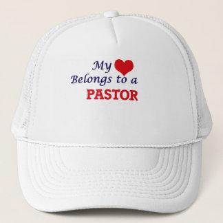 Mi corazón pertenece a un pastor gorra de camionero