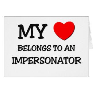 Mi corazón pertenece a un PERSONIFICADOR Tarjeta De Felicitación
