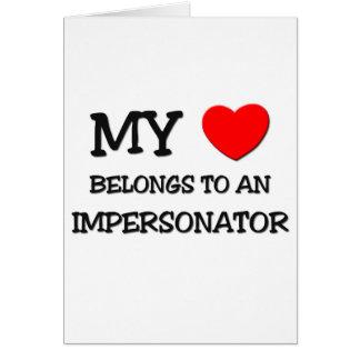 Mi corazón pertenece a un PERSONIFICADOR Felicitación