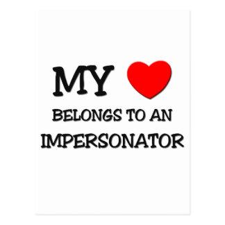 Mi corazón pertenece a un PERSONIFICADOR Tarjeta Postal