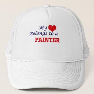 Mi corazón pertenece a un pintor gorra de camionero