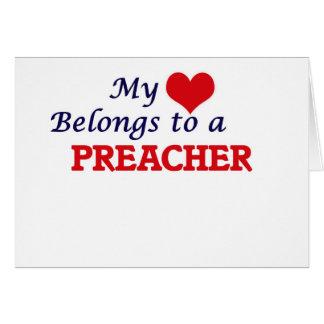 Mi corazón pertenece a un predicador tarjeta de felicitación