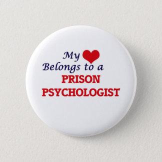 Mi corazón pertenece a un psicólogo de la prisión chapa redonda de 5 cm