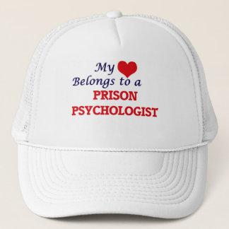 Mi corazón pertenece a un psicólogo de la prisión gorra de camionero