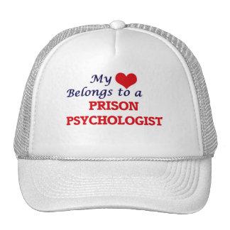 Mi corazón pertenece a un psicólogo de la prisión gorras