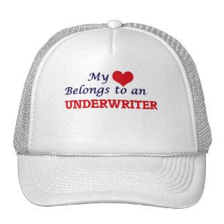 Mi corazón pertenece a un suscriptor gorras