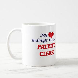 Mi corazón pertenece a un vendedor de la patente taza de café