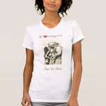 Mi corazón pertenece a una camiseta del buceador d