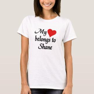 Mi corazón pertenece al shane camiseta