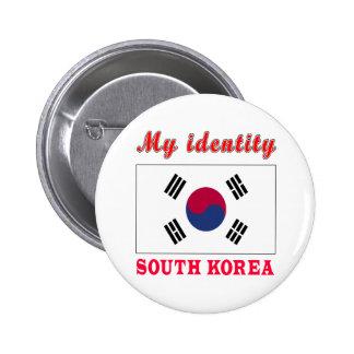 Mi Corea del Sur de la identidad Chapa Redonda 5 Cm