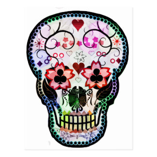 Mi cráneo mexicano tarjeta postal