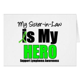 Mi cuñada es mi héroe felicitaciones
