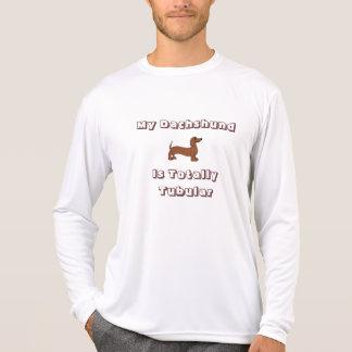Mi Dachshund es manga larga totalmente tubular Camiseta