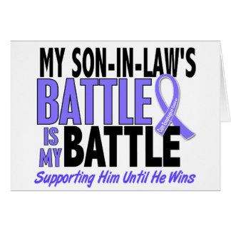 Mi de la batalla cáncer del esófago del yerno tamb tarjeta de felicitación