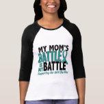 Mi de la batalla cáncer ovárico de la mamá también camiseta