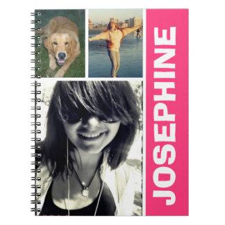 Mi diario preferido del collage de la foto de las  libro de apuntes