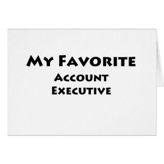 Mi ejecutivo de cuenta preferido tarjeta de felicitación
