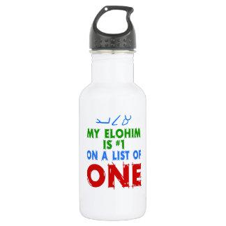 Mi Elohim es #1 en una lista de una Botella De Agua