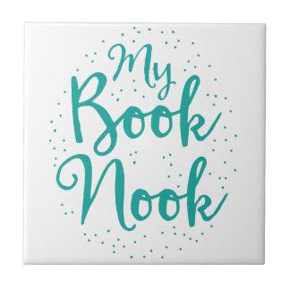 mi escondrijo del libro azulejo cuadrado pequeño