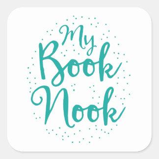 mi escondrijo del libro pegatina cuadrada