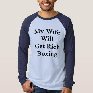 Mi esposa conseguirá el boxeo rico camisetas