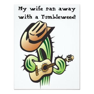 Mi esposa corrió lejos con una invitación del
