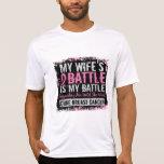 Mi esposa del cáncer de pecho demasiado 2 de la ba camisetas