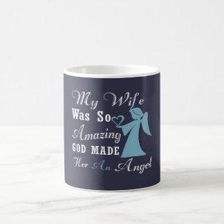 Mi esposa es un ángel taza de café