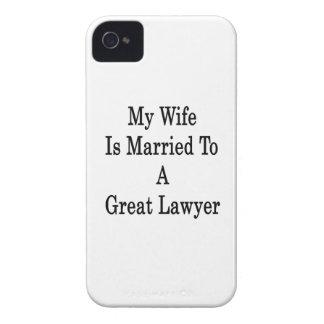 Mi esposa está casada con un gran abogado iPhone 4 carcasas