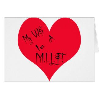 Mi esposa/marido es tarjeta de felicitación