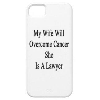 Mi esposa superará al cáncer que ella es abogado iPhone 5 Case-Mate cárcasa
