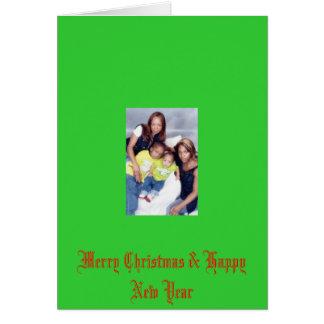 mi fam bam 2007, Felices Navidad y Feliz Año Nuevo Tarjeta De Felicitación