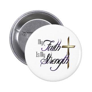 Mi fe chapa redonda de 5 cm