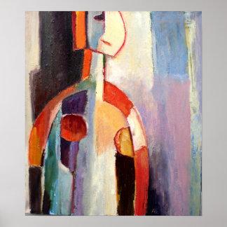 Mi figura abstracta moderna pintura póster