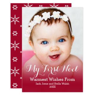 Mi foto moderna del primer navidad invitación 12,7 x 17,8 cm