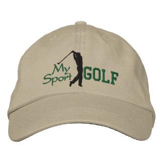 Mi gorra bordado golf del deporte gorra de beisbol bordada