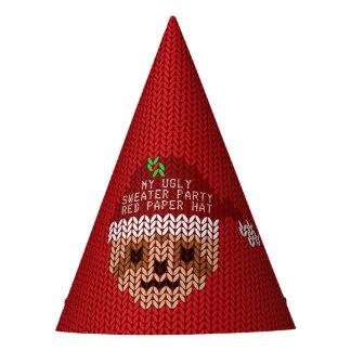 Mi gorra de papel rojo del navidad del fiesta feo