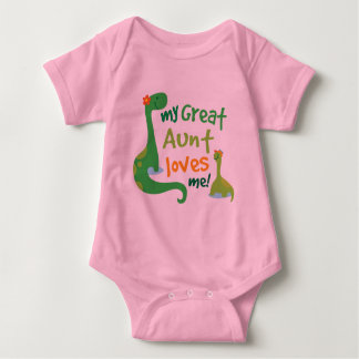 Mi gran tía Loves Me Dinosaur Body Para Bebé
