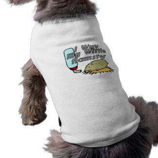 Mi hámster de Wittle Camiseta Sin Mangas Para Perro