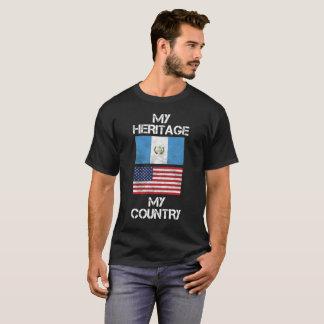 Mi herencia mi camiseta americana guatemalteca del