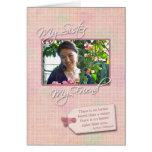 Mi hermana, mi amigo - tarjeta de encargo de la fo