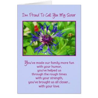 Mi hermana… tarjeta de felicitación